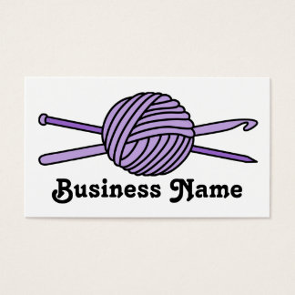 Purple Ball of Yarn (Knit & Crochet) Business Card