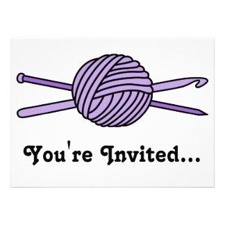 Purple Ball of Yarn (Knit & Crochet) Announcements
