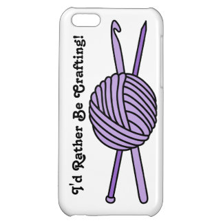 Purple Ball of Yarn (Knit & Crochet) Cover For iPhone 5C