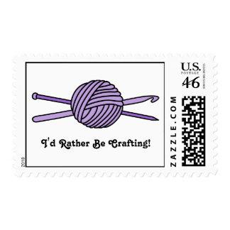 Purple Ball of Yarn (Knit & Crochet) Stamps