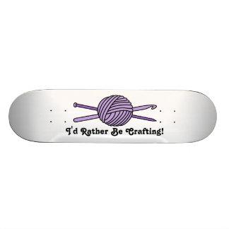 Purple Ball of Yarn (Knit & Crochet) Skateboard
