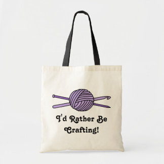Purple Ball of Yarn (Knit & Crochet) Tote Bag