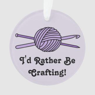 Purple Ball of Yarn (Knit & Crochet - Version 2) Ornament