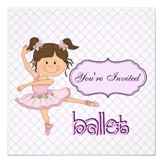 Purple Ballerina Card