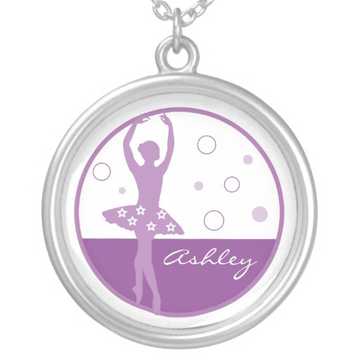 Purple Ballerina Necklace
