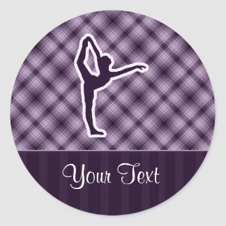 Purple Ballet Classic Round Sticker