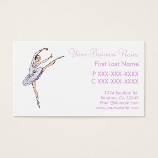 Purple ballet dancer custsom cards