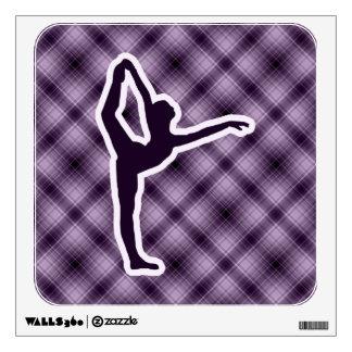 Purple Ballet Wall Sticker