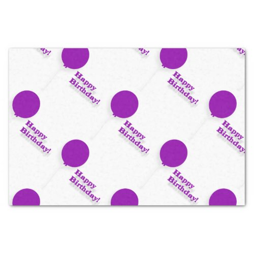 Purple Balloons Tissue Paper