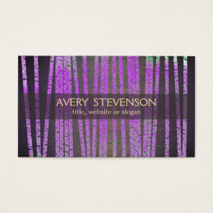 Bamboo business cards templates zazzle purple bamboo holistic and natural health business card colourmoves Images