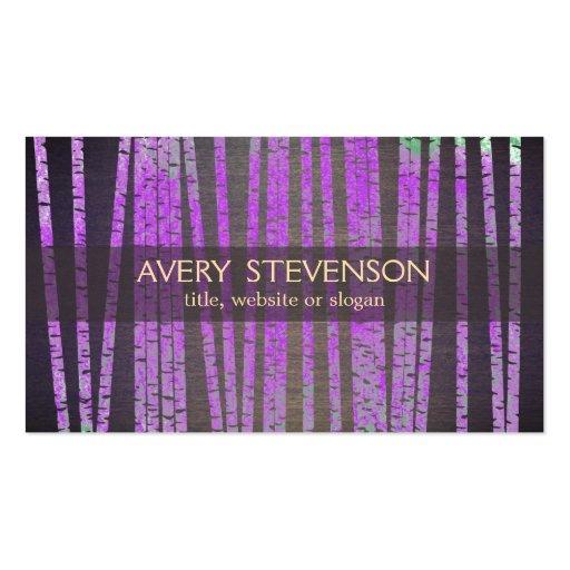 Purple Bamboo Nature Health Spa Wood Business Card Template
