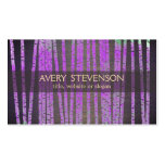 Purple Bamboo Nature Health Spa Wood Double-Sided Standard Business Cards (Pack Of 100)
