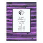 "Purple Bamboo Save the Date 4.25"" X 5.5"" Invitation Card"