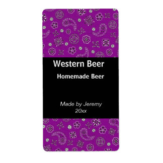 Purple Bandana Beer Label
