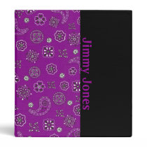 Purple Bandana Binder