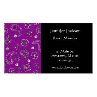 Purple Bandana Business Cards