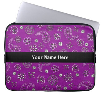 Purple Bandana Laptop Sleeve