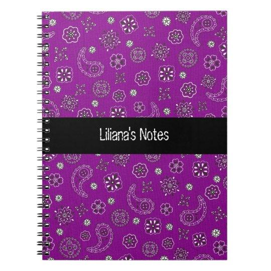 Purple Bandana Notebook
