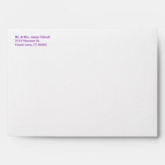 Purple Bandana Western Invitation Envelope