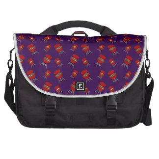 purple barbeque pattern commuter bag