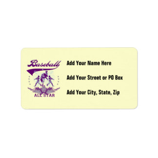 Purple Baseball All Star T-shirts and Gifts Label