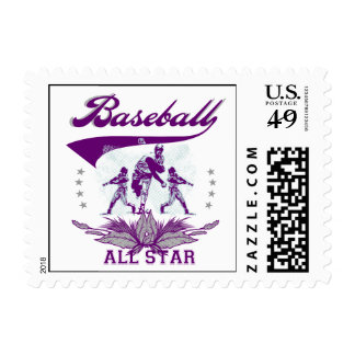 Purple Baseball All Star T-shirts and Gifts Stamps
