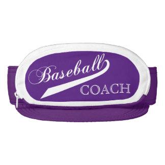 Purple Baseball Coach Visor