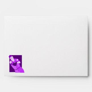 Purple Baseball Envelopes