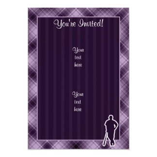Purple Baseball Player Card