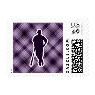 Purple Baseball Player Stamps