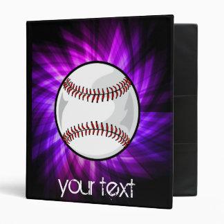 Purple Baseball; Softball 3 Ring Binder