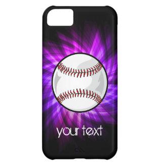 Purple Baseball; Softball Cover For iPhone 5C