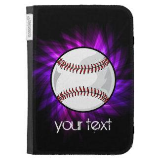 Purple Baseball; Softball Kindle Keyboard Case