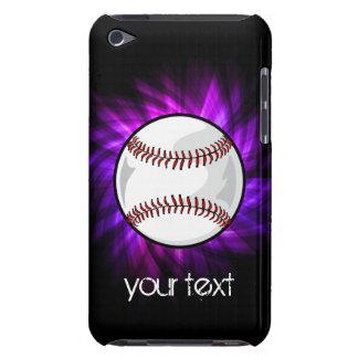 Purple Baseball; Softball iPod Touch Case-Mate Case