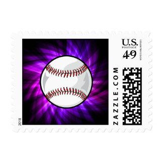 Purple Baseball; Softball Postage