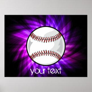 Purple Baseball; Softball Poster