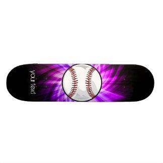Purple Baseball; Softball Skateboard Deck