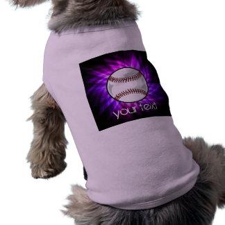 Purple Baseball; Softball T-Shirt