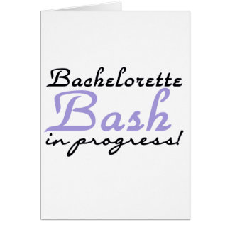 Purple Bash in Progress Tshirts and Gifts Greeting Card