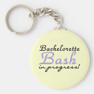 Purple Bash in Progress Tshirts and Gifts Basic Round Button Keychain