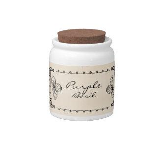 Purple Basil Herb Jar Candy Jars
