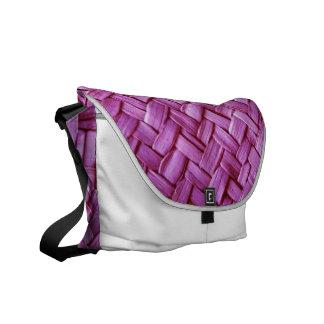 Purple Basket weave messenger purse bag