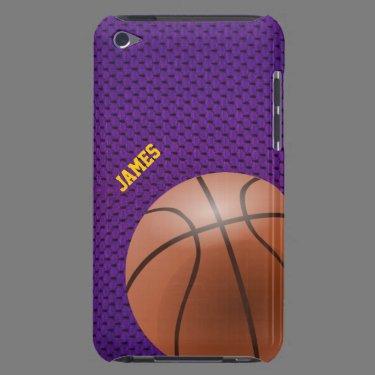 Purple Basketball Custom iPod Touch Case