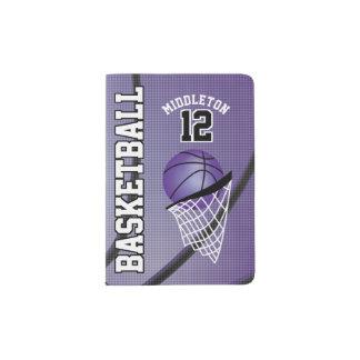 Purple Basketball Design | Personalize Passport Holder
