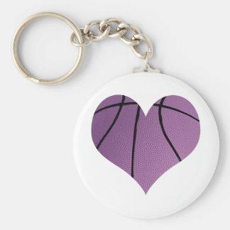 Purple basketball Love Keychain