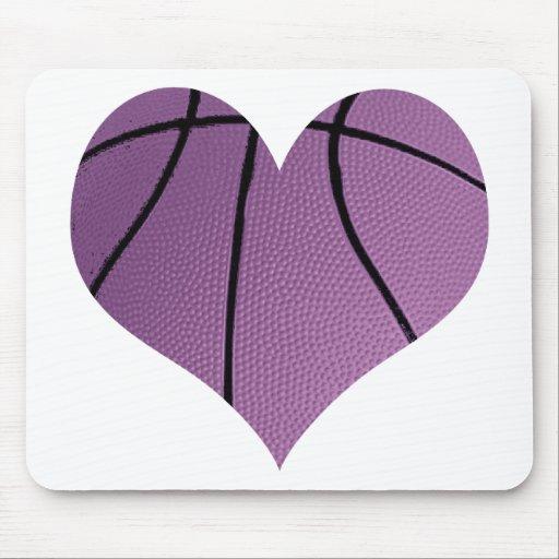Purple basketball Love Mouse Pad