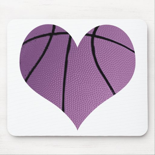 Purple basketball Love Mousepads