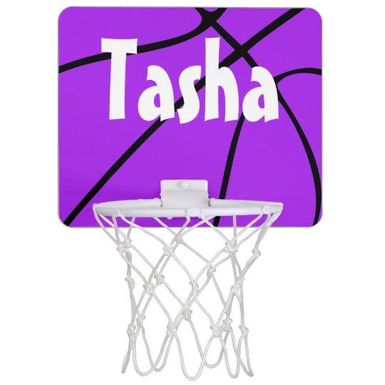 Purple Basketball Mini Basketball Hoop