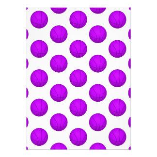 Purple Basketball Pattern Custom Announcements