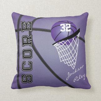Purple Basketball Style | Personalize Pillow